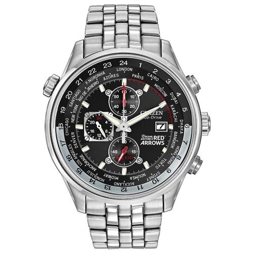 Citizen Watch Stainless Steel Bracelet Eco-Drive Red Arrows Chronograph CA0080-54E